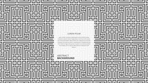 Modello di linee astratte decorative forma quadrata Vettore Premium