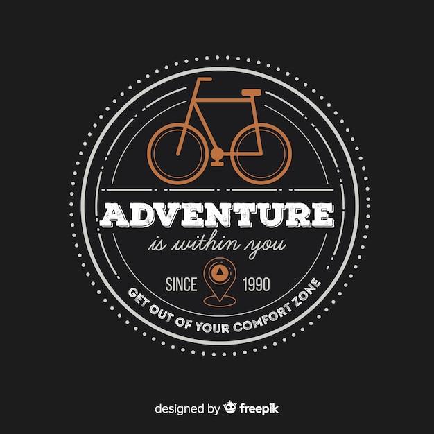 Modello di logo avventura vintage Vettore gratuito