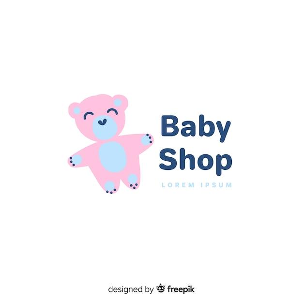 Modello di logo bella baby shop Vettore gratuito