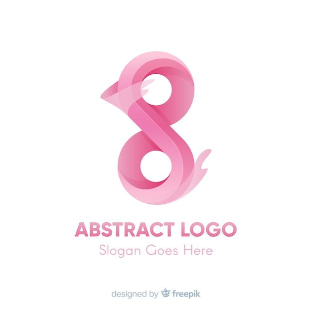Modello di logo con forme astratte Vettore gratuito