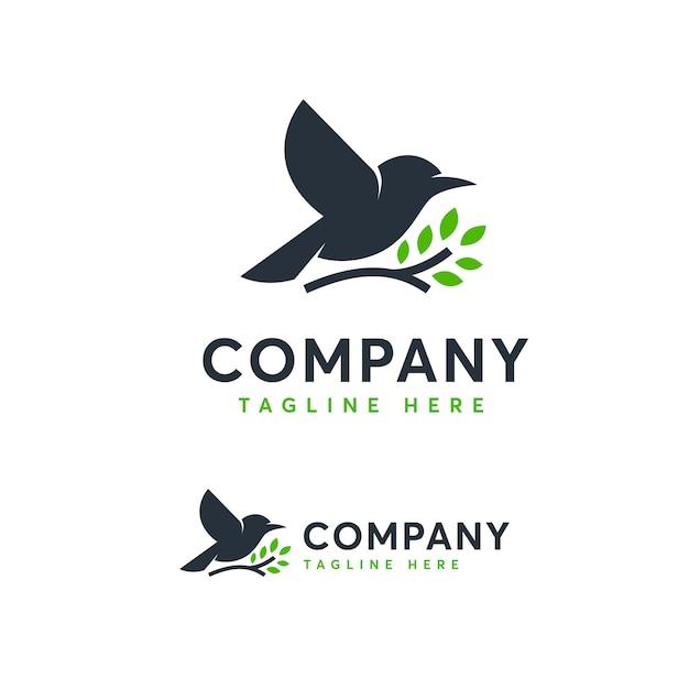 Modello di logo degli uccelli Vettore Premium