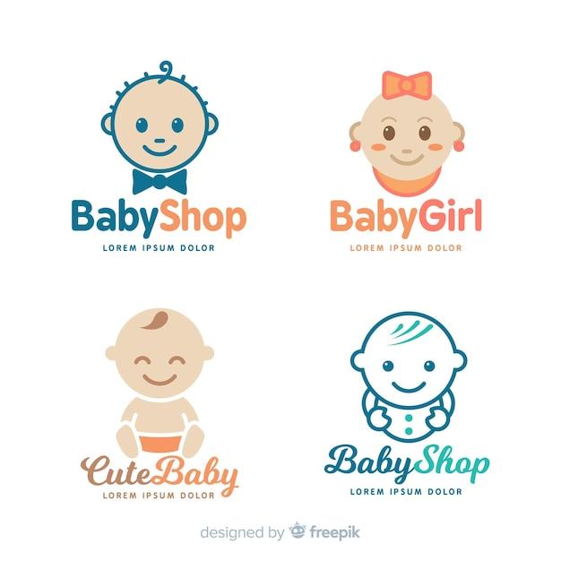 Modello di logo del bambino Vettore gratuito