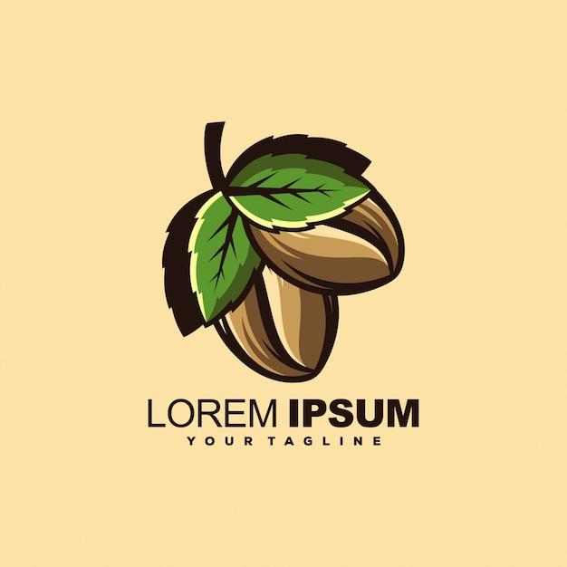 Modello di logo del caffè Vettore Premium