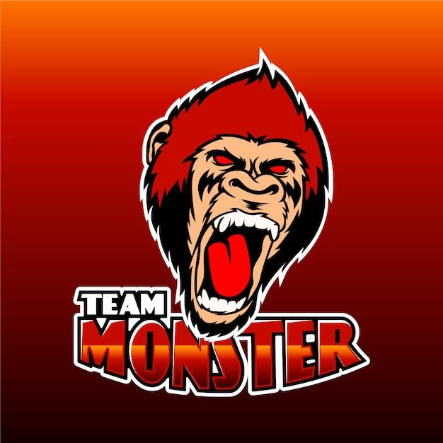 Modello di logo della squadra della mascotte Vettore gratuito