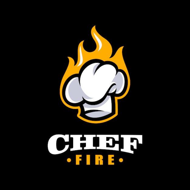 Modello di logo dello chef. modello di logo di panetteria Vettore Premium