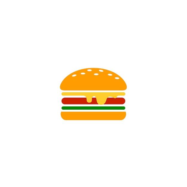 Modello di logo di cibo dell'hamburger Vettore Premium