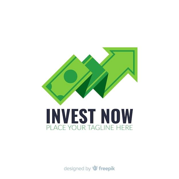 Modello di logo di concetto di denaro Vettore gratuito