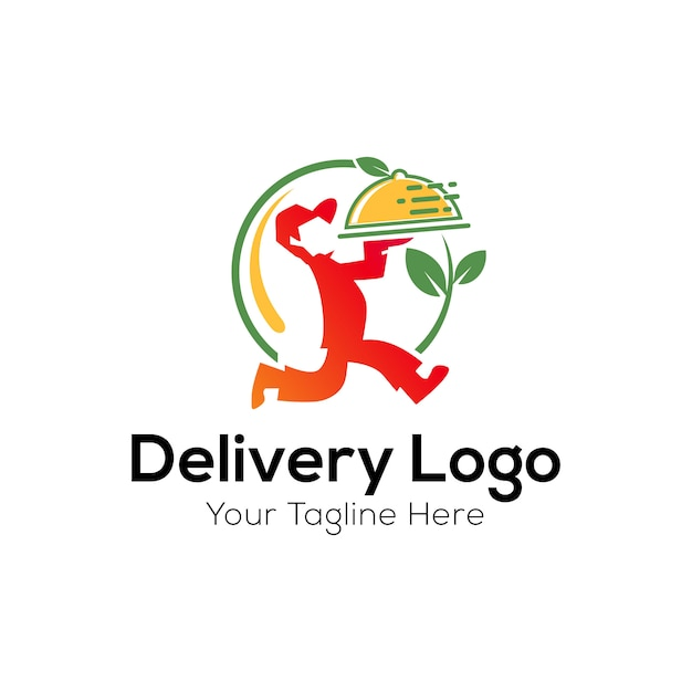 Modello di logo di consegna Vettore Premium