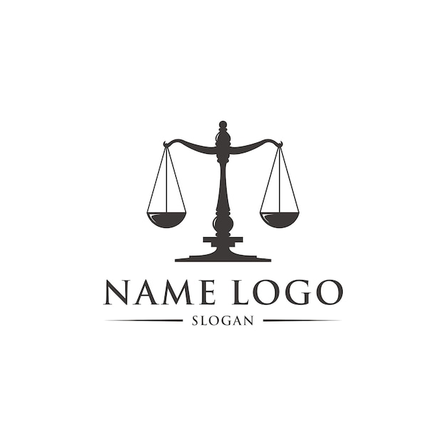 Modello di logo di legge Vettore Premium