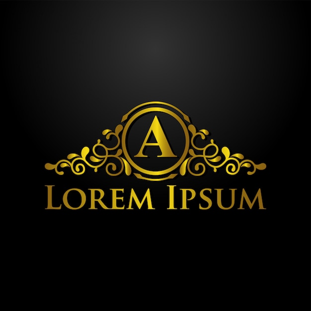 Modello di logo di lusso Vettore Premium