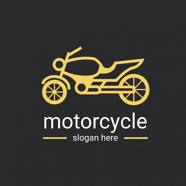 Modello di logo di moto Vettore Premium