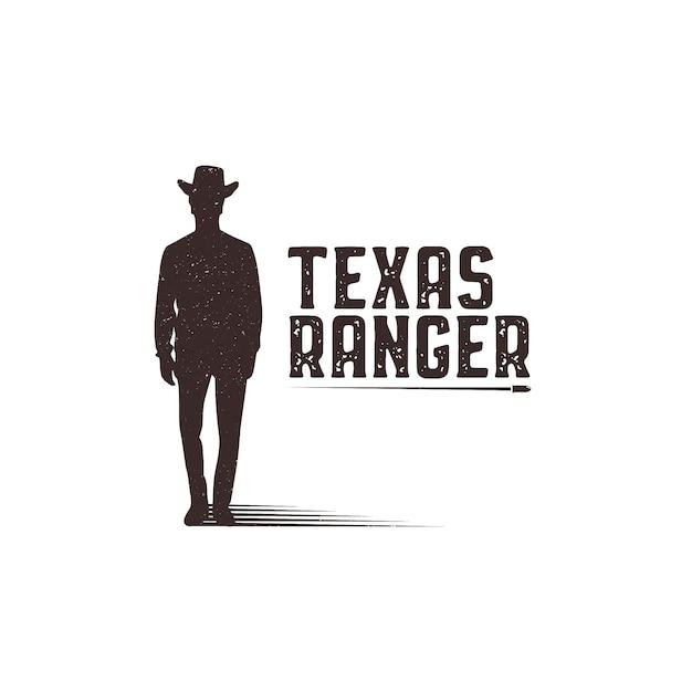 Modello di logo di texas ranger Vettore Premium