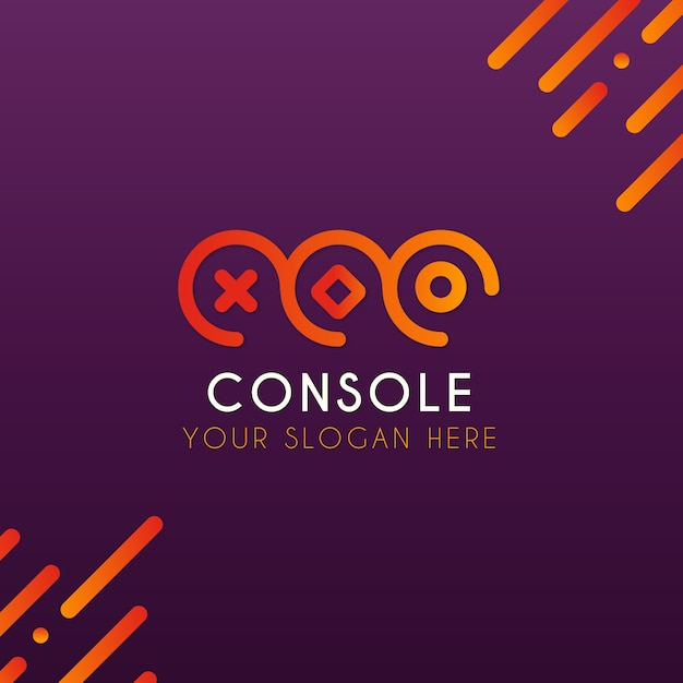 Modello di logo di videogiochi con uno stile moderno Vettore gratuito
