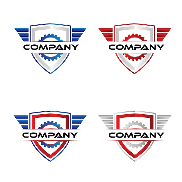 Modello di logo distintivo di gara Vettore Premium