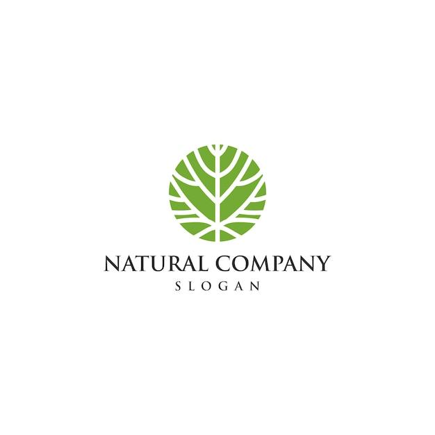 Modello di logo ecologia unico Vettore Premium