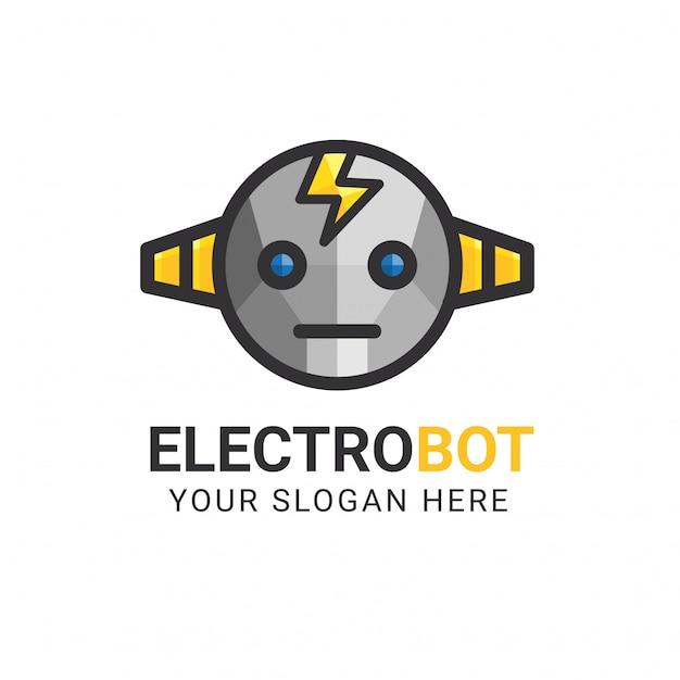 Modello di logo electrobot Vettore Premium