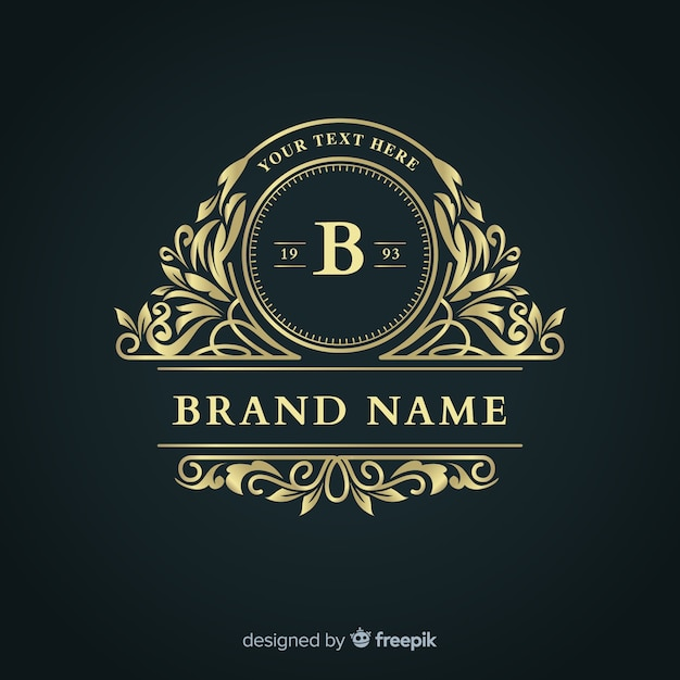 Modello di logo elegante business ornamentale Vettore gratuito