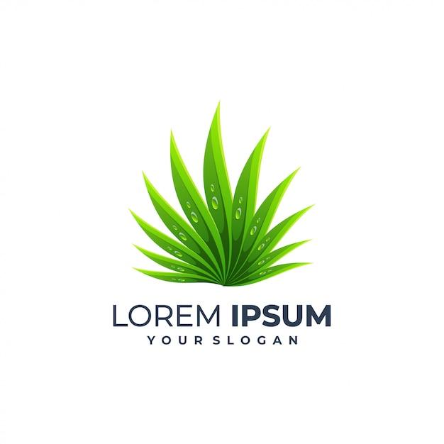 Modello di logo foglia Vettore Premium