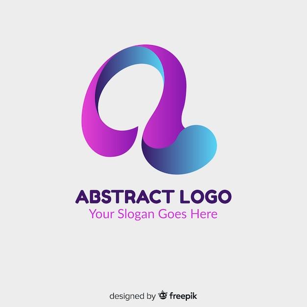 Modello di logo gradiente con forma astratta Vettore gratuito