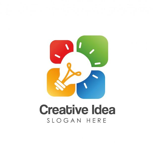 Modello di logo idea creativa Vettore Premium