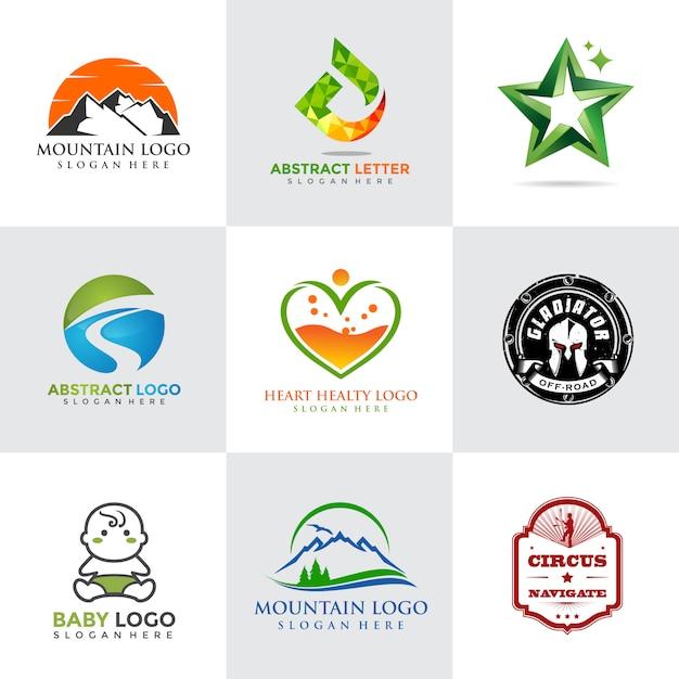 Modello di logo moderno e minimalista Vettore Premium