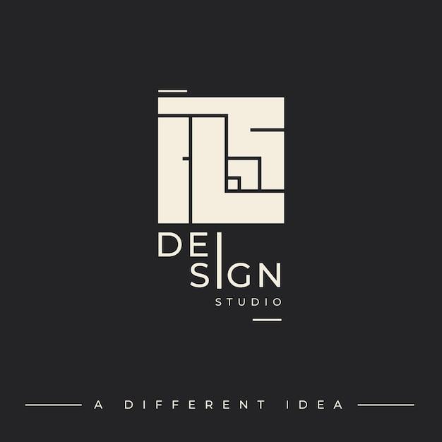 Modello di logo per studio di design Vettore gratuito
