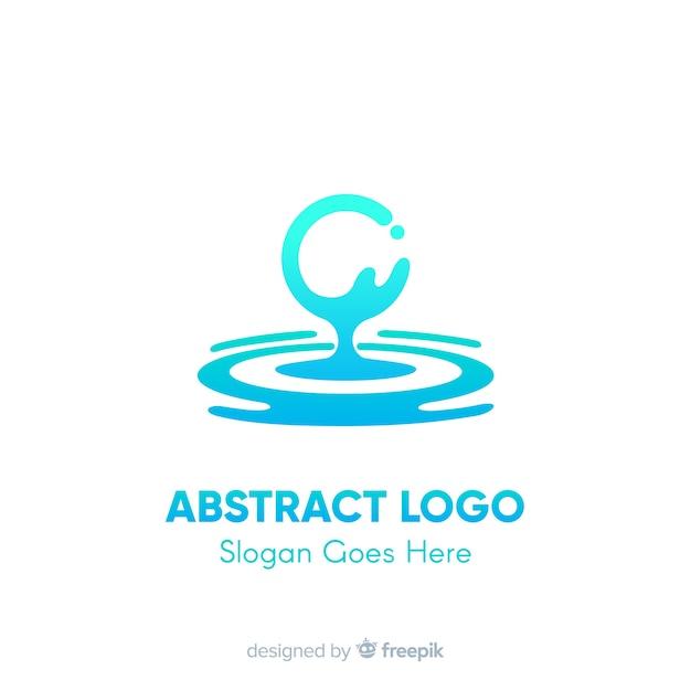 Modello di logo sfumato con forma astratta Vettore gratuito