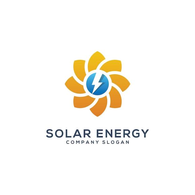 Modello di logo solare enegy astratto sole Vettore Premium