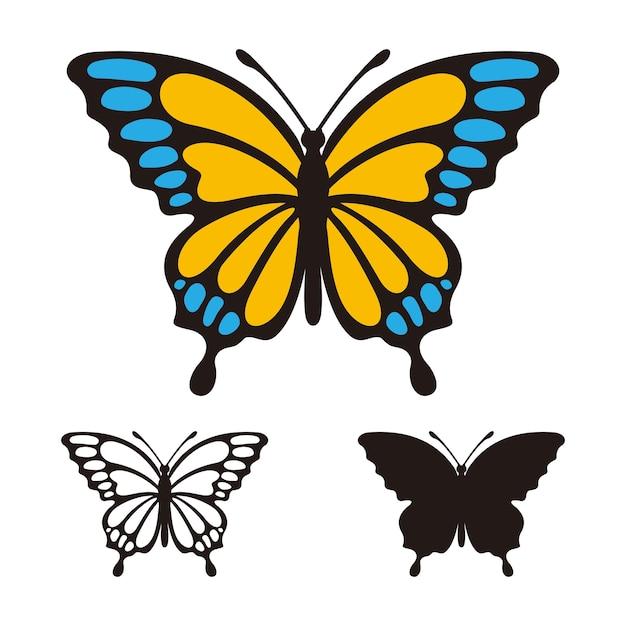 Modello di logo vettoriale farfalla Vettore Premium