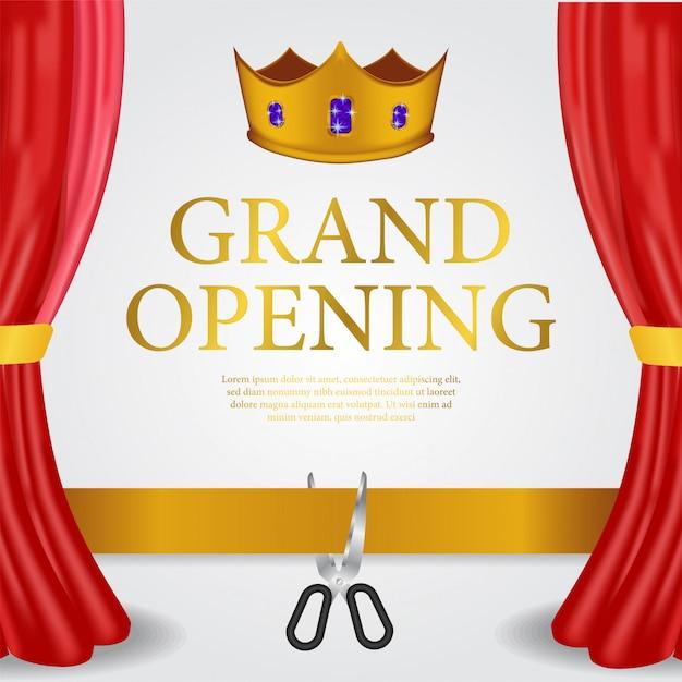 Modello di lusso grand banner di apertura Vettore Premium