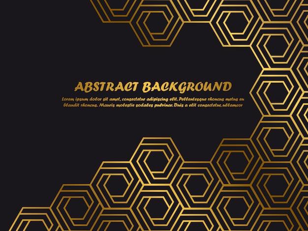 Modello di lusso sfondo minimal con forme astratte dorate Vettore Premium