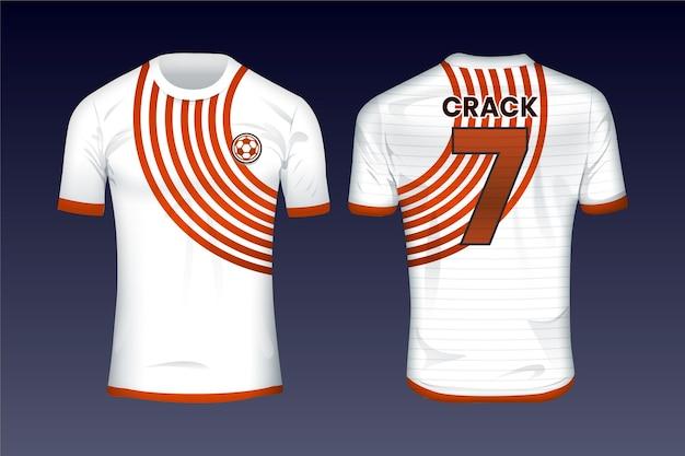 Modello di maglia da calcio Vettore gratuito