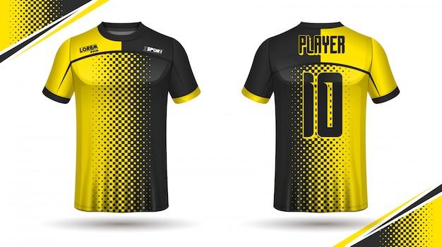 Modello di maglia di calcio Vettore Premium