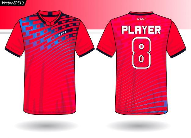 Modello di maglia sportiva per divise della squadra Vettore Premium