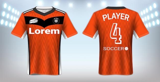 Modello di maglietta sportiva Vettore Premium