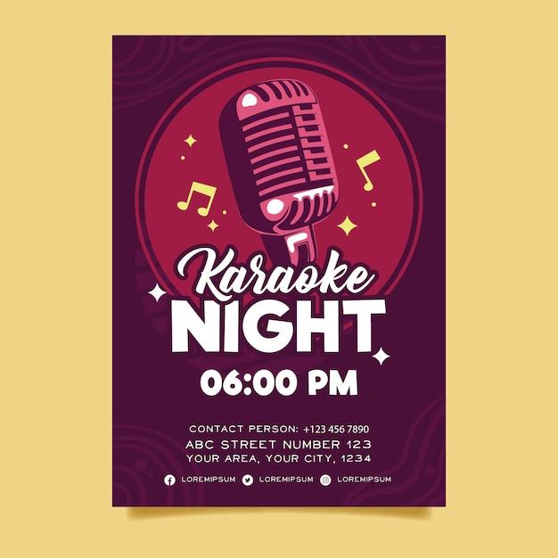 Modello di manifesto astratto karaoke modello Vettore gratuito