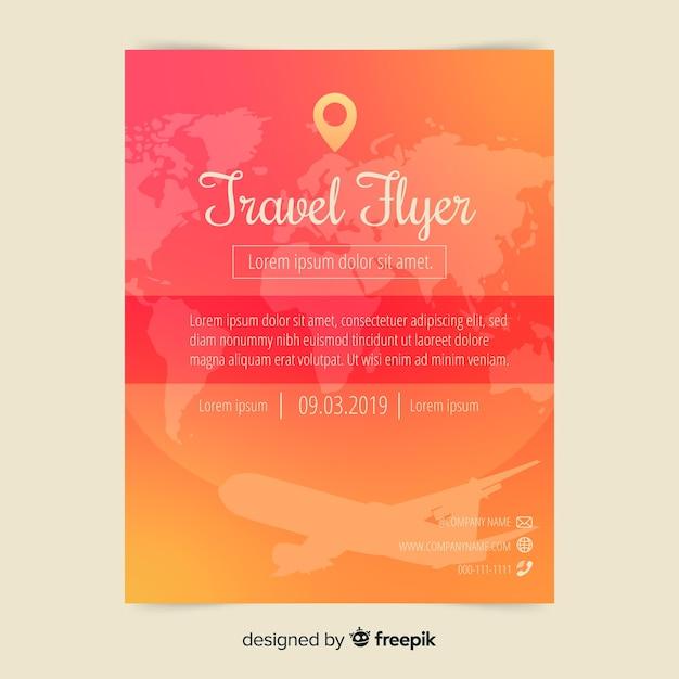 Modello di manifesto di viaggio piatto Vettore gratuito