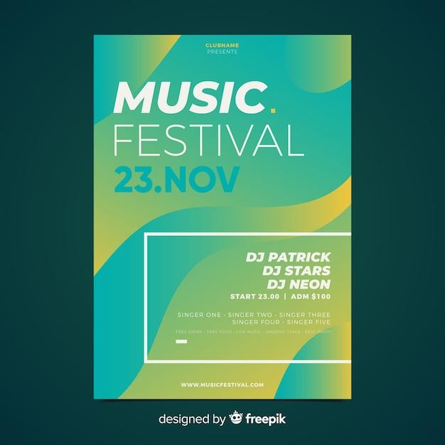 Modello di manifesto festival di musica Vettore gratuito
