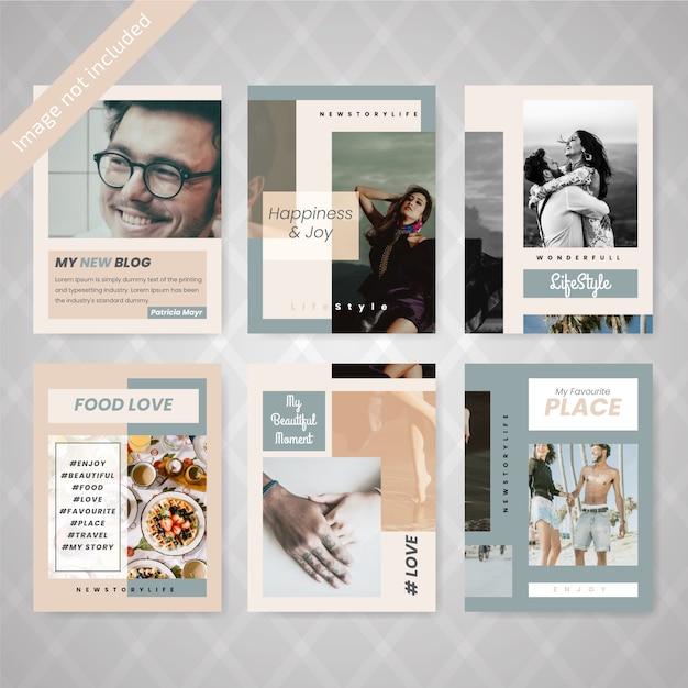 Modello di media sociali di vendita di moda Vettore Premium