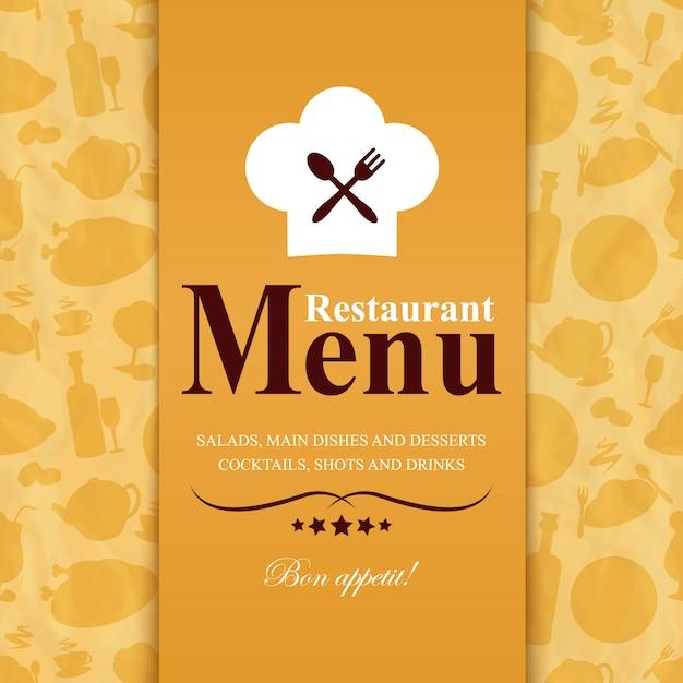 Modello di menu del ristorante Vettore Premium