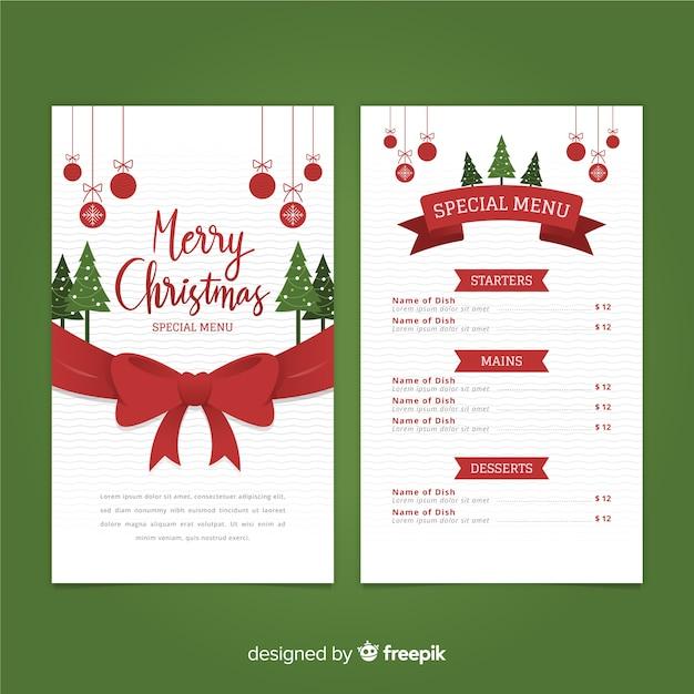Modello Menu Di Natale Da Stampare.Modello Di Menu Di Grande Arco Di Natale Scaricare Vettori
