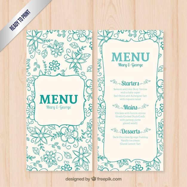 Ben noto Modello di menu di nozze floreale | Scaricare vettori gratis DG79