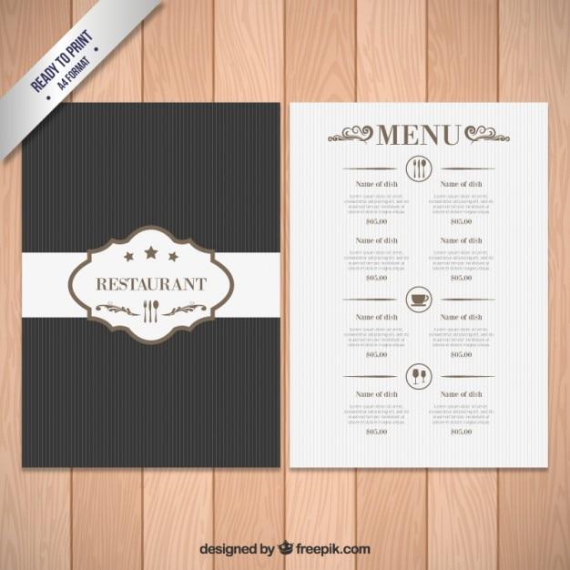 Top Modello di menu elegante | Scaricare vettori gratis SC52