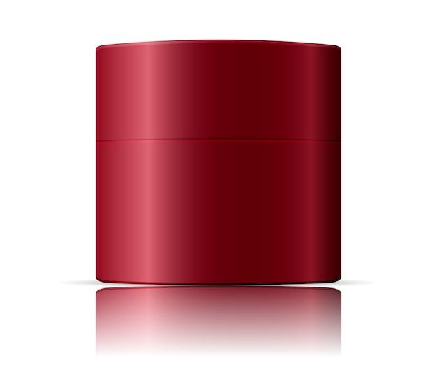 Modello di mockup di barattoli cosmetici. illustrazione vettoriale Vettore Premium