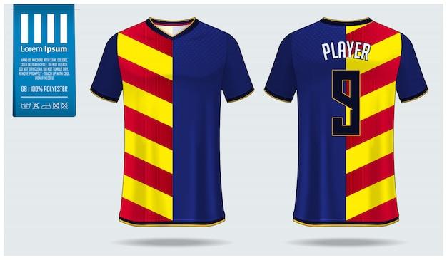 Modello di mockup di calcio jersey o calcio kit modello Vettore Premium