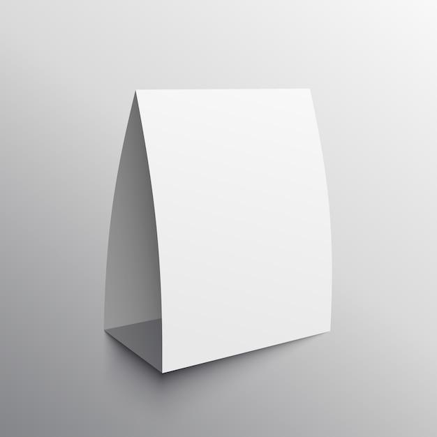 Modello di mockup vuoto della scheda di visualizzazione Vettore gratuito