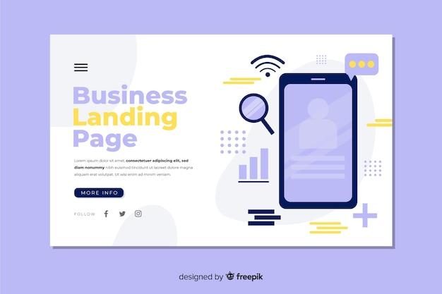 Modello di pagina di destinazione aziendale piatta Vettore gratuito