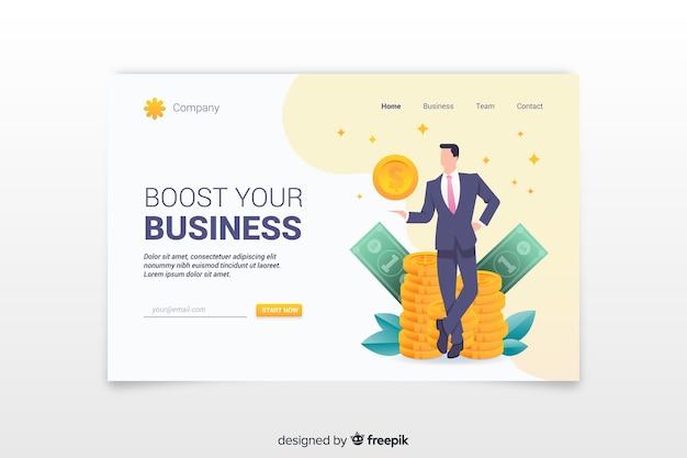 Modello di pagina di destinazione del business Vettore gratuito
