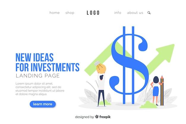Modello di pagina di destinazione del concetto di business Vettore gratuito
