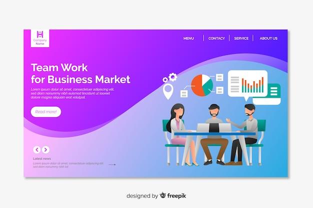 Modello di pagina di destinazione del marketing digitale Vettore gratuito
